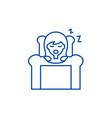 deep sleep line icon concept deep sleep flat vector image vector image