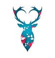 deer cartoon paper landscape vector image vector image
