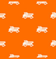 dump truck pattern seamless vector image vector image