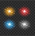 four color of lights on gray background vector image vector image