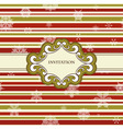 frame on Christmas seamless pattern vector image vector image