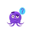 Funny Octopus Raising Eyebrow Emoji vector image vector image