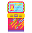 game machine with users info profile player vector image