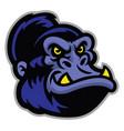 gorilla cartoon head vector image