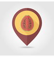 Guava flat pin map icon Tropical fruit vector image