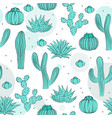 hand drawn succulent ornament seamless pattern vector image vector image