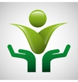 hands protected concept ecology icon design vector image