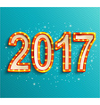 Happy new year 2017 shining retro light vector image vector image
