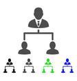 human hierarchy flat icon vector image vector image