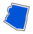 isolated map of the state of arizona vector image vector image