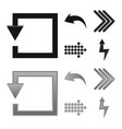 isolated object of element and arrow symbol vector image