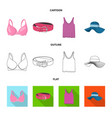 isolated object of woman and clothing symbol vector image vector image