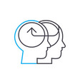 knowledge sharing linear icon concept knowledge vector image