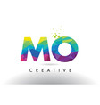 mo m o colorful letter origami triangles design vector image vector image