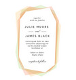 modern colorful wedding invitation template vector image vector image