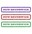new brunswick watermark stamp vector image