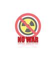 no war icon design vector image