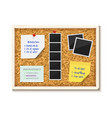 noticeboard cork board with paper notes to do vector image vector image
