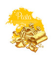 pasta poster for italian restaurant vector image vector image