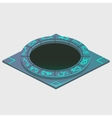 Portal with glowing runes series of artifacts vector image vector image