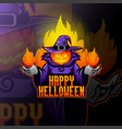 pumpkin head in a witchs hat vector image
