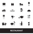 restaurant and pub icons eps10 vector image