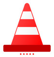 road cone icon color fill style vector image vector image