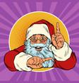santa claus points up presentation gesture vector image vector image