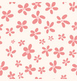 seamless pattern vintage flowers vector image