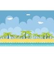 Seamless Sunny Beach Ocean Sea Nature Concept Flat vector image
