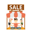 seller man on marketplace icon vector image vector image