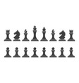 silhouettes chess pieces vector image