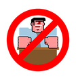 Stop angry boss It is forbidden to shout vector image vector image