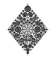 symmetrical ornamental composition vector image vector image