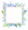 tender feather frame vector image