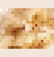 the abstract golden background from circles vector image