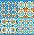 traditional moroccan mosaic patterns vector image vector image