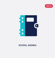 two color school agenda icon from education vector image