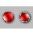 two red buttons realistic vector image
