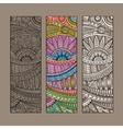 vintage ethnic pattern card set vector image vector image
