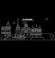 vladimir silhouette skyline russia - vladimir vector image