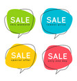 set of flat speech bubble shaped banners price vector image