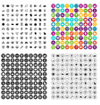 100 internet icons set variant vector image vector image
