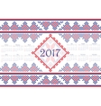 2017 Calendar with ethnic round ornament pattern vector image vector image