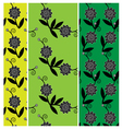 3 fower pattern vector image vector image