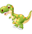adorable dinosaur tyrannosaurus isolated on transp vector image vector image