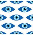 blue evil eyes symbols seamless pattern vector image vector image