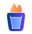 burning cocktail flat icon b-52 cocktail color vector image