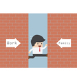 businessman being squeezed job and family vector image