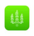 candelabra candle icon green vector image vector image